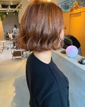 切りっぱなしボブのオレンジcolor|MASHU GRAND VASEのヘアスタイル