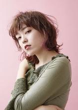 プチウルフ ピンクインナー|MASHU ADOBEのヘアスタイル