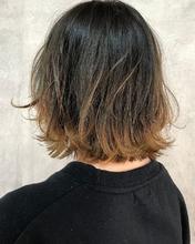 肩上ボブのバレイヤージュグラデーション|MASHU ADOBEのヘアスタイル