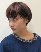 ピンクラベンダーのセクションカラー|MASHU ADOBEのヘアスタイル