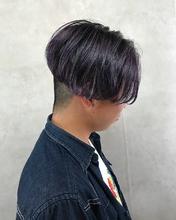 シルバーパープルカラー MASHU ADOBEのヘアスタイル