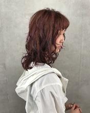 ピンクバイオレットカラー|MASHU ADOBEのヘアスタイル