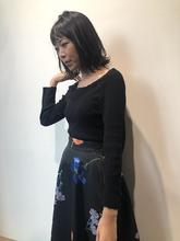 黒髪鎖骨レイヤー|MASHU NU茶屋町店のヘアスタイル