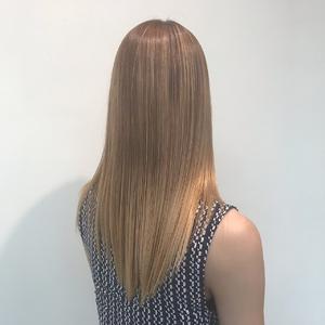 【髪質改善】ハイトーン美髪!oooitトリートーメント|MASHU NU茶屋町店のヘアスタイル