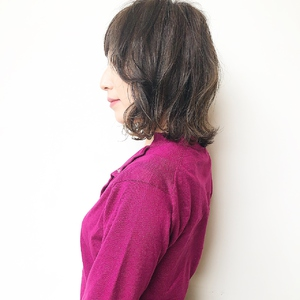 ハイライト混ぜラベンダーウルフヘアー|MASHU NU茶屋町店のヘアスタイル