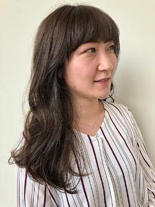 モカベージュ|MASHU NU茶屋町店のヘアスタイル