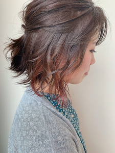 コーラルピンク|MASHU NU茶屋町店のヘアスタイル