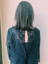 シースルーミントボブ|MASHU NU茶屋町店のヘアスタイル