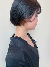 ミニボブ|MASHU NU茶屋町店のヘアスタイル