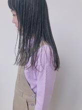 色落ちが楽しい!濃いめのブルージュ|MASHU NU茶屋町店のヘアスタイル