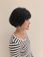 コンパクトボブ|MASHU NU茶屋町店のヘアスタイル