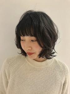 ウルフボブ|MASHU NU茶屋町店のヘアスタイル