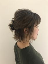 スモーキーベージュ MASHU NU茶屋町店 川口 千夏のヘアスタイル