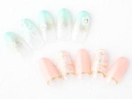 お花レース(上) ツイード(下)|Libra hair spa 和泉中央店のネイル