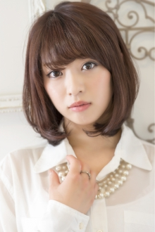 大人可愛い☆オフィスフェミニンボブ keep hair designのヘアスタイル