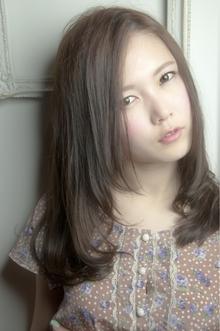 スモーキーグレージュ☆内巻きストレート keep hair designのヘアスタイル