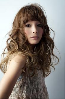フレンチドール☆グラデーションカラー+くっきりウェーブmix keep hair designのヘアスタイル