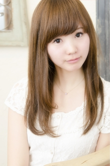 重めバング×美髪ストレートスタイル|keep hair designのヘアスタイル