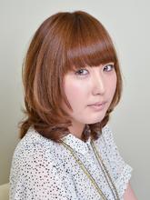 甘めのミディアムカール|hair garden ans. 上北沢店のヘアスタイル