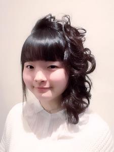 ラフでかわいいアップ|hair garden ans. 千歳烏山店のヘアスタイル