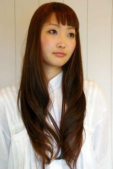 大人のダークブラウンロングカール♪|Que hairのヘアスタイル