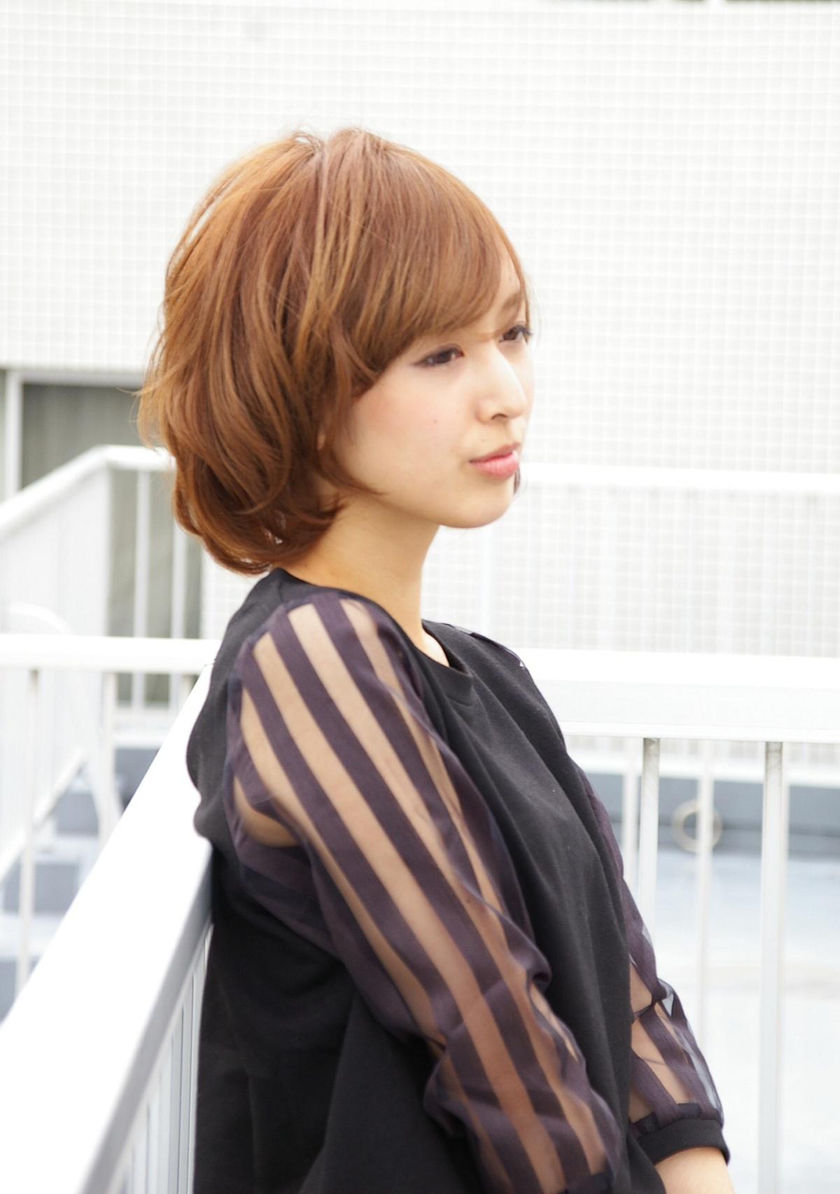 ☆大人のマッシュボブ☆似合わせカラーで肌色が綺麗にみえますよ^ ^