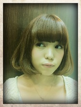 ナチュラルBOB Hair room Prism 飯原 慈子のヘアスタイル