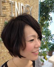 ゆるいパーマのモテモテショート|STYLE INDEX 新大塚店のヘアスタイル