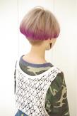 """""""ホワイトグレー☆baby pink&purple"""""""