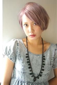 """pink+Lavender☆BOB""|beyond-""E""のヘアスタイル"