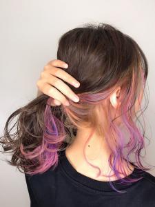 インナーユニコーンカラー|rocca hair innovation 稲毛西口店のヘアスタイル