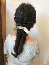 キュートフィッシュボーン|rocca hair innovation 稲毛西口店 馬場 葉瑠香のヘアスタイル