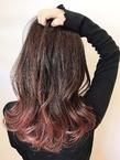 個性的グラデーションカラー|rocca hair innovation 稲毛西口店のヘアスタイル