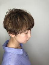 くせ毛風ショート|rocca hair innovation 稲毛西口店のヘアスタイル