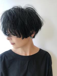 センシュアルショート/無造作カール|rocca hair innovation 稲毛西口店のヘアスタイル
