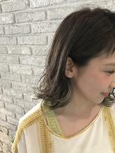 切りっぱなしラインカラーアッシュロブ♪|MaruQuee de mashuのヘアスタイル