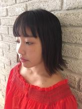 切りっぱなしロブ|MaruQuee de mashuのヘアスタイル