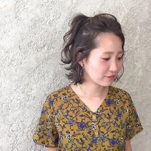 ハイライトボブ アレンジ|MaruQuee de mashuのヘアスタイル