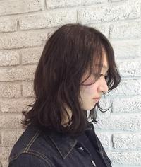 黒髪アッシュレイヤーミディアム♪