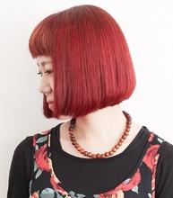 赤髪パッツンボブ♪|MaruQuee de mashuのヘアスタイル