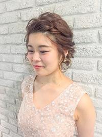 二次会ヘアセット★ふわミディ結婚式ジェンダーレスフェアリー