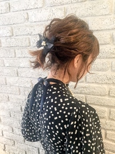 波ウェーブアレンジ★結婚式二次会ヘアセットジェンダーレス|MaruQuee de mashuのヘアスタイル