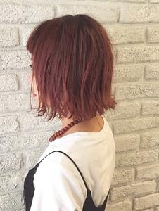 人気の切りっぱなしボブ×ピンクバイオレット♪|MaruQuee de mashuのヘアスタイル