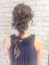 ゆるふわMIX★編み込みチュールヘアセット|MaruQuee de mashuのヘアスタイル