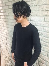 黒髪メンズミディアムマット無造作ショート★ネープレスビジカジ