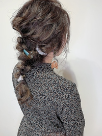 結婚式ヘアセット★あみ下ろし三つ編み