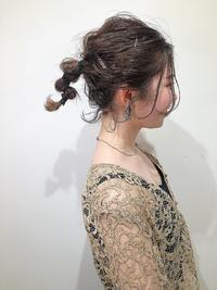 結婚式カジュアルヘアアレンジ★モードヘアセット