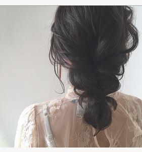 ゆるんと編み込みアレンジ|Lumier de mashuのヘアスタイル