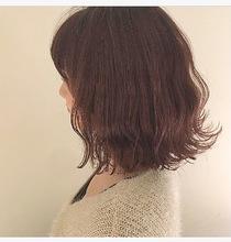 切りっぱなしボブ・スプリングピンクカラー|Lumier de mashuのヘアスタイル