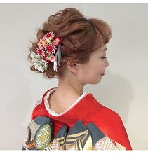 着物にも合うヘアアレンジ|Lumier de mashuのヘアスタイル